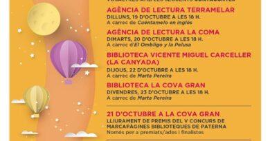 La Canyada celebra el Día de las Bibliotecas con un cuentacuentos para niños el próximo jueves 22 de octubre