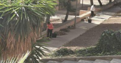 El vecindario de Mas del Rosari se ve obligado a limpiar las calles del barrio